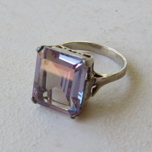 Vintage Calarts Sterling and Amethyst Ring Size 7